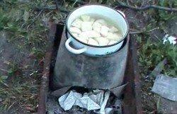 ведро-печка