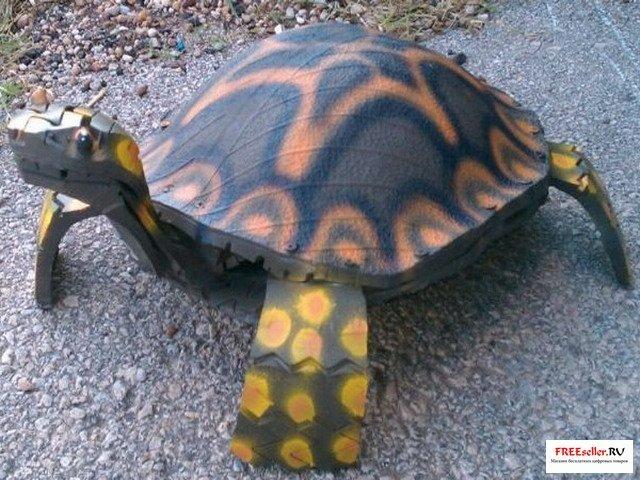 Черепаха из шин