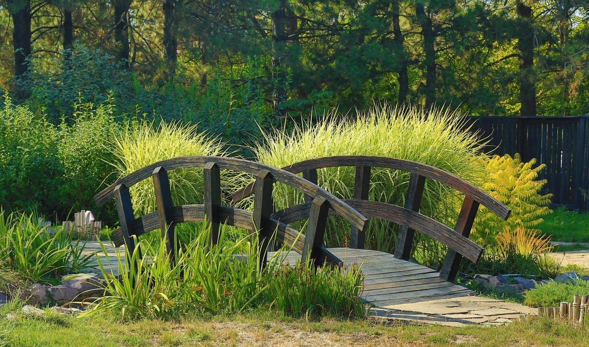 мостик в саду