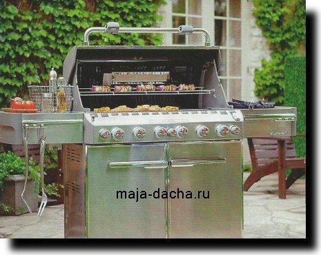 Летняя кухня с газовым барбекю изготовление барбекю харьков
