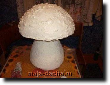 гриб из монтажной пены