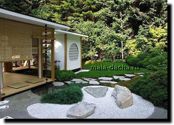 Оригинальный сад из камней фото