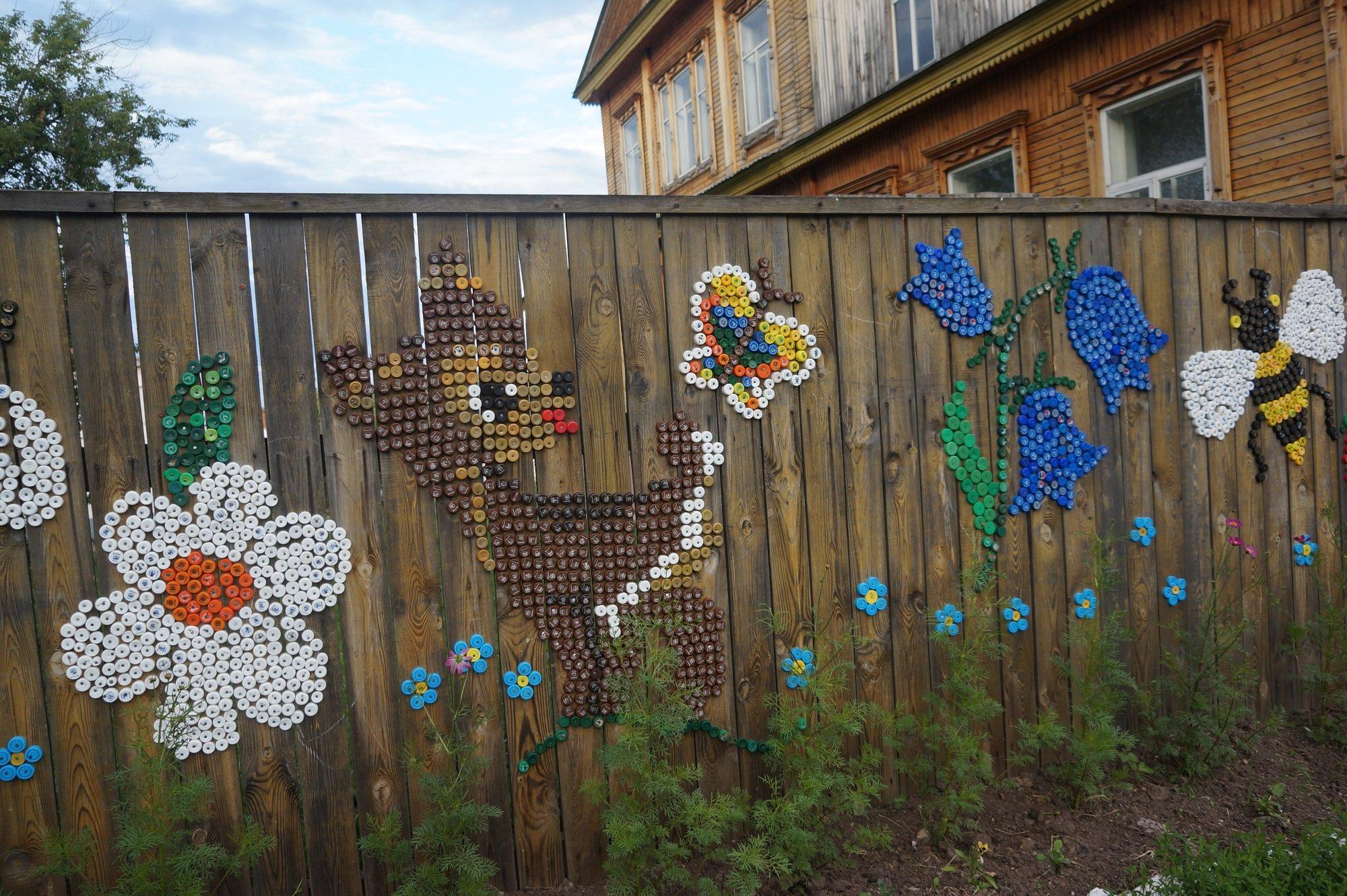 Рисунки на заборе своими руками фото фото 238