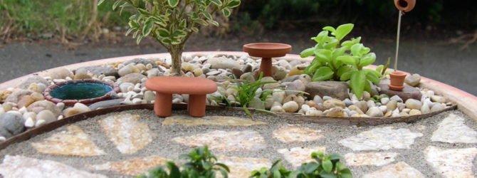 Миниатюрный садик своими руками