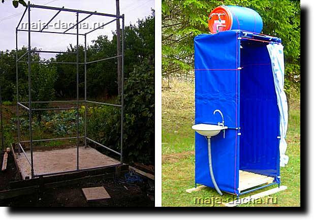 Строим своими руками летний душ