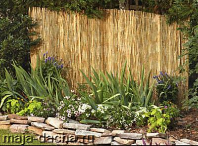 Декоративный забор для дачи из тросника