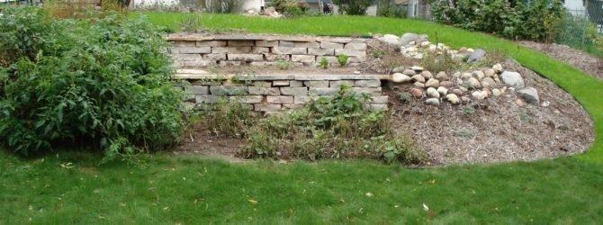 подпорные стенки на даче