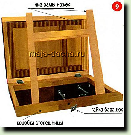 Складной столик своими руками для дачи
