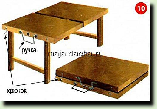 Складной столик своими руками мобильный