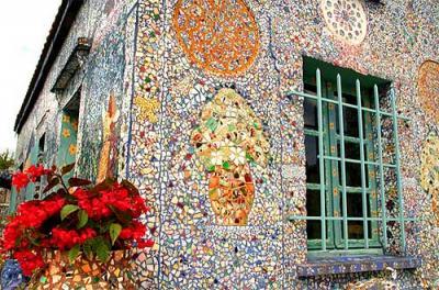 Применение мозаики в саду или даче фото