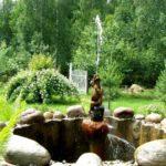 Дачный миниатюрный фонтан своими руками