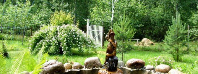 Дачный миниатюрный фонтан