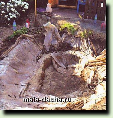Мини-пруд на террасе