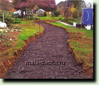 Садовая дорожка своими руками-шаг за шагом фото