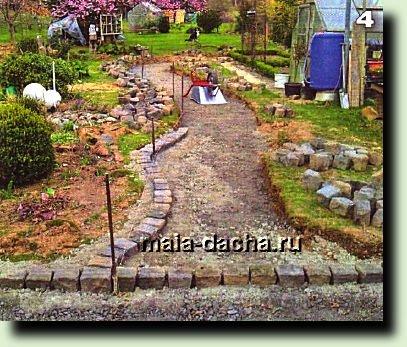 Садовая дорожка для дачи фото