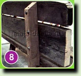 Простая скамейка своими руками для дачи