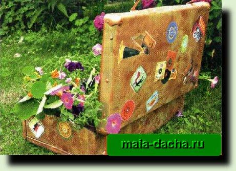 делаем чемодан с цветами