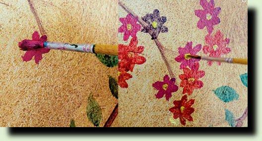 Украшаем стены, дачи или дома, росписью.