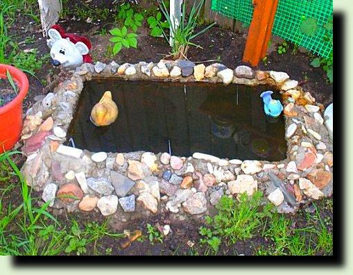 Делаем из старой ванны мини пруд на даче