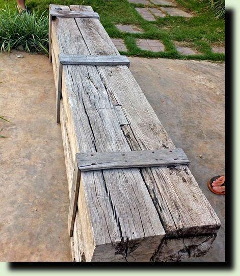 простая скамья для дачи фото
