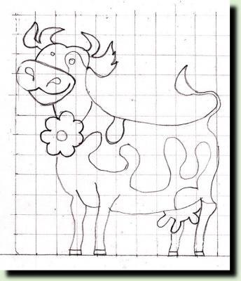 трафарет коровы для дачи