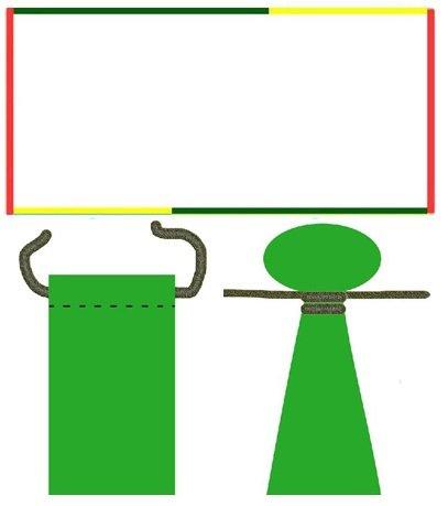 Схема сшивания полотна и узлы