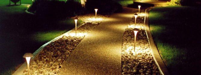 Светильник для сада своими руками