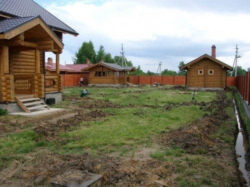Осушение земли на даче