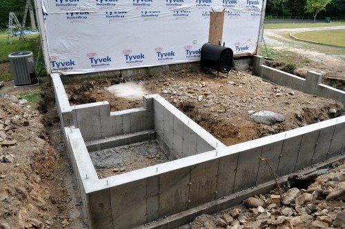 Фундамент пристройки к дому