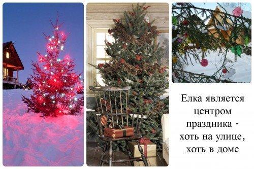 Новогодняя елка для дачи