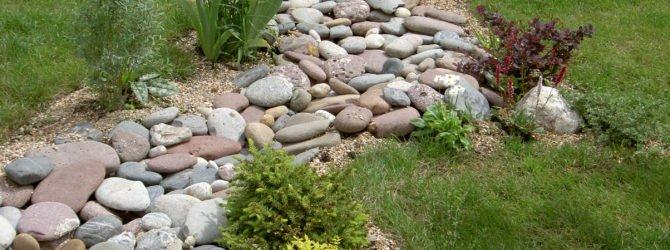 Сухой ручей или ландшафт для дачи