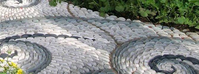 Садовое рукоделие. Узоры из плитки и камня