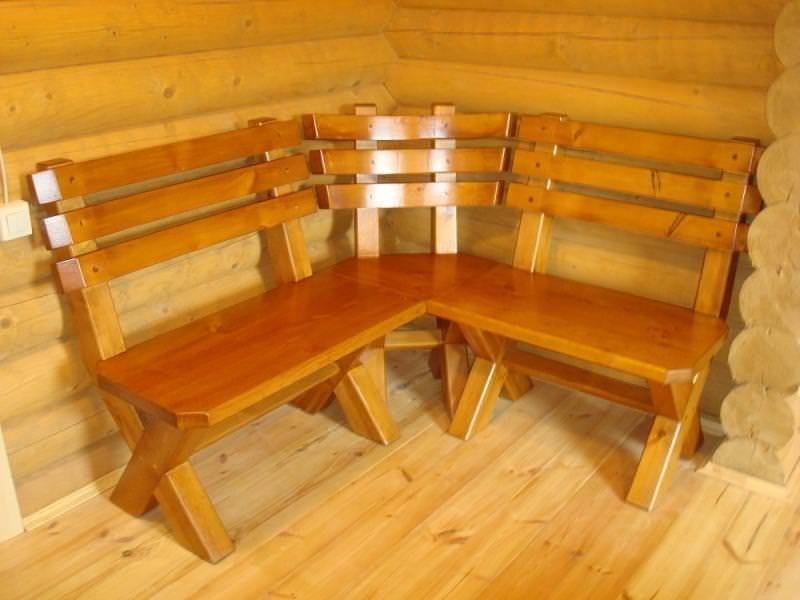 Скамейки для бани из дерева своими руками фото