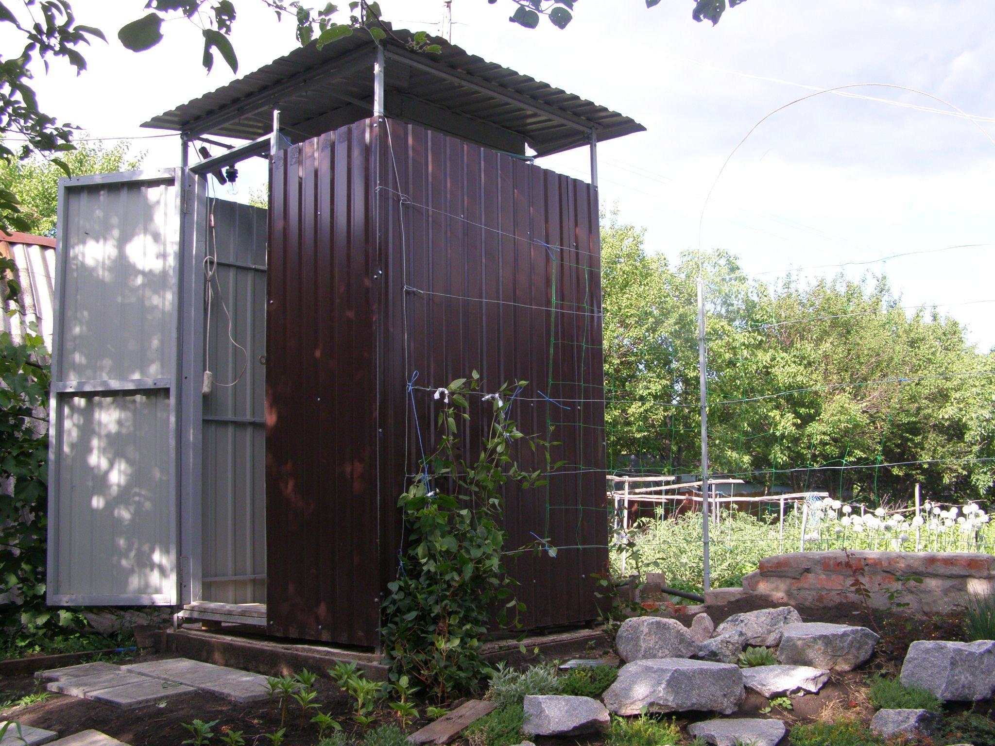 Строим летний душ для дачи своими руками
