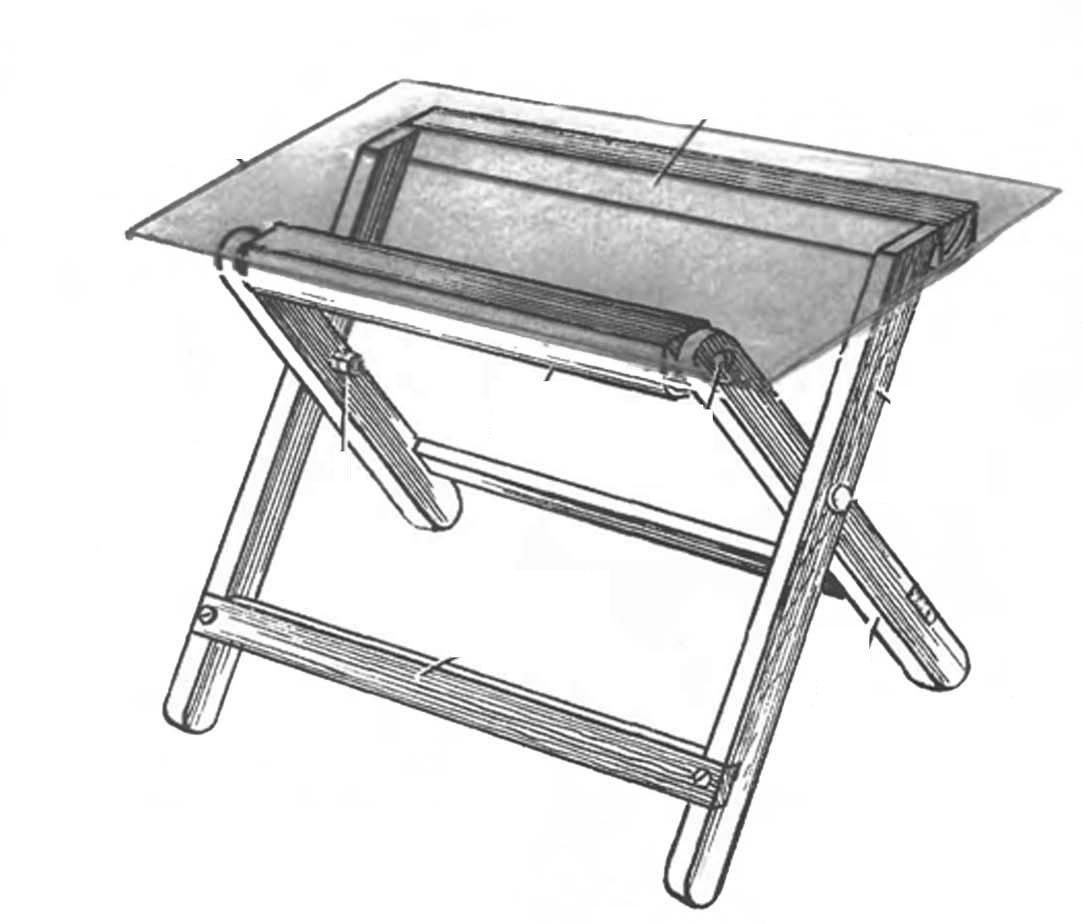 Раскладной столик своими руками видео фото 140