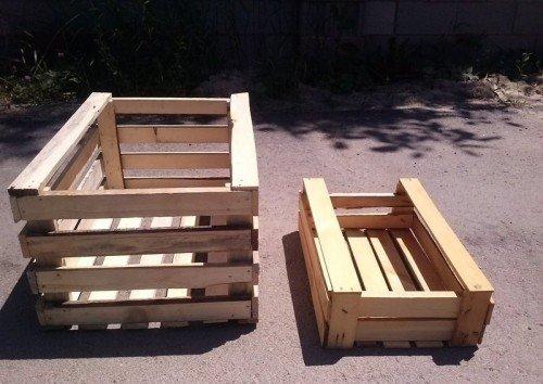 Деревянные ящики для хранения яблок