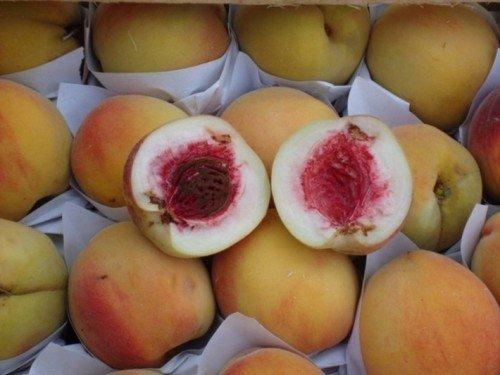 Персики с повреждениями