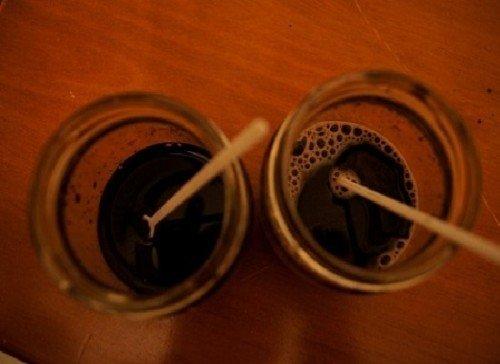Стаканы с виноградным соком