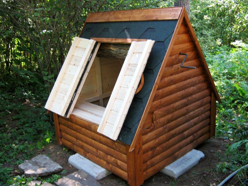 Как построить колодезный домик