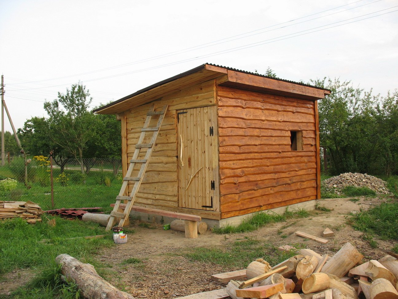 Построить сарай своими руками на даче