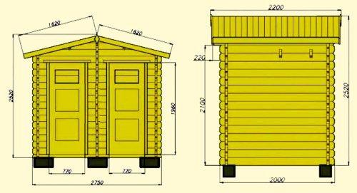 Схема дачного туалета с душем