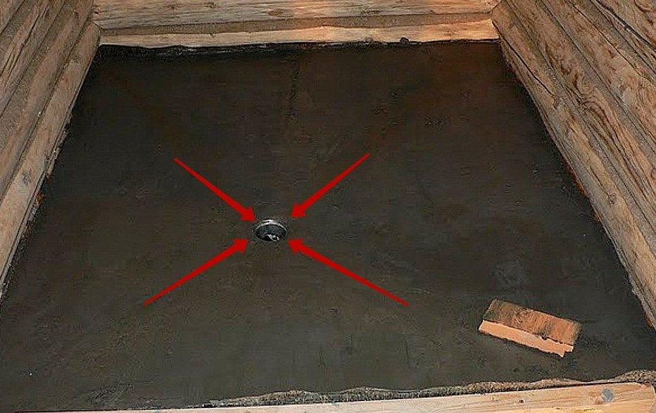 Как сделать бетонный слив в бане