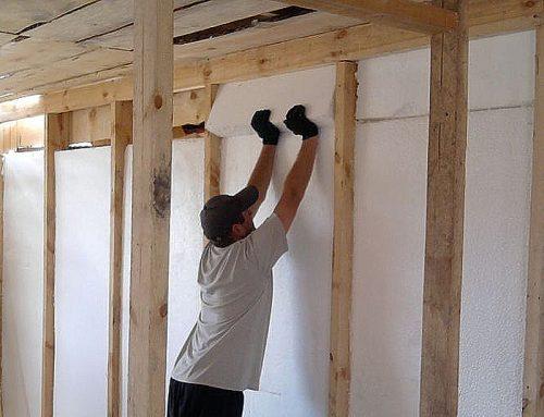 Утепление стен и потолка пенопластом