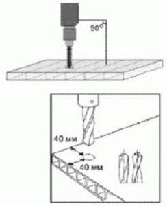 Процесс сверления поликарбоната