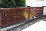 Плетёный деревянный забор