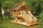 Оригинальная деревянная горка