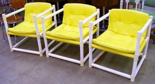 Садовые стулья из пластиковых труб