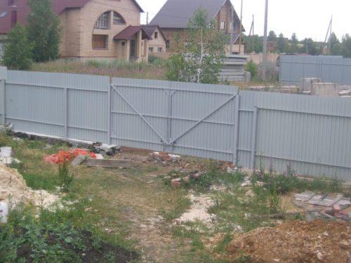 Готовые распашные ворота