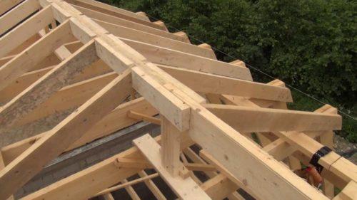 Готовый каркас крыши