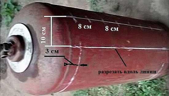 Схемы мангал с газового баллона своими руками